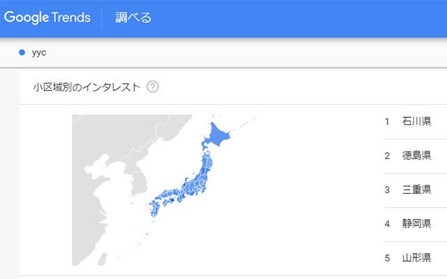 Googleトレンド YYC