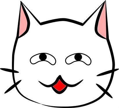 ニヤケ顔の猫