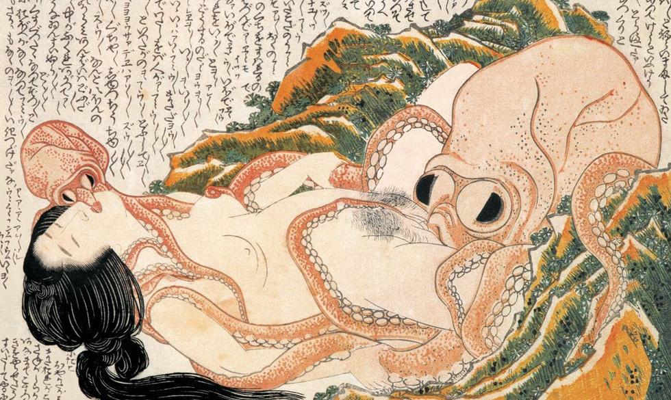 葛飾北斎 蛸と海女